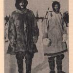 Maria Czaplicka z Henrykiem Hallem podczas syberyjskiej podróży w strojach Samojedów