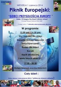 Piknik Europejski z okazji Międzynarodowego Dnia Dziecka