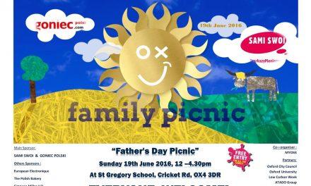 """Oxford Picnic – Tym razem pod hasłem """"Father's Day Picnic"""""""